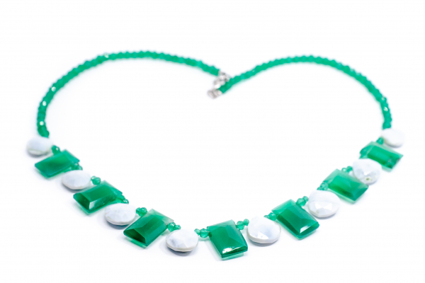 Colier Creatie cu Larimar, Agat Verde si Argint [0]